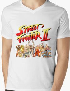 Street Fighter II Arcade Group Shot Tee  Mens V-Neck T-Shirt