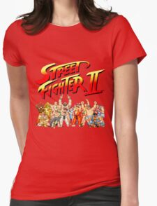 Street Fighter II Arcade Group Shot Tee  Womens Fitted T-Shirt