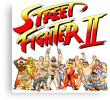 Street Fighter II Arcade Group Shot Tee  Canvas Print