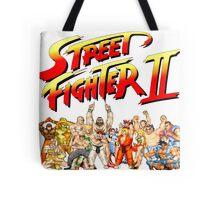 Street Fighter II Arcade Group Shot Tee  Tote Bag