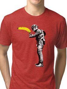 Monkey astronaut with banana Tri-blend T-Shirt
