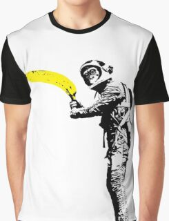 Monkey astronaut with banana Graphic T-Shirt