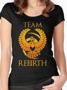 Team Rebirth - Black Women's Fitted Scoop T-Shirt