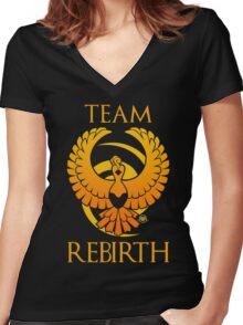 Team Rebirth - Black Women's Fitted V-Neck T-Shirt