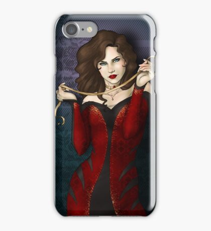 Gothic Girl With Red Ribbon iPhone Case/Skin