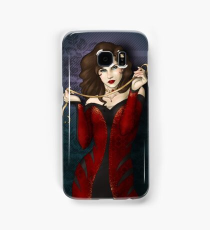 Gothic Girl With Red Ribbon Samsung Galaxy Case/Skin