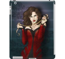 Gothic Girl With Red Ribbon iPad Case/Skin