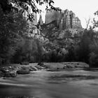 Oak Creek in B&W by BGSPhoto