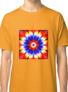 Modern abstract geek flower  Classic T-Shirt