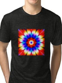 Modern abstract geek flower  Tri-blend T-Shirt