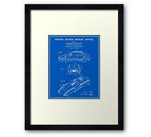 Automobile Body Patent - Blueprint Framed Print