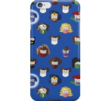 Nerd Girl (Owls) - Blue iPhone Case/Skin