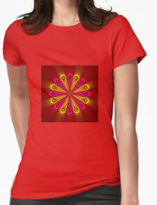 Bright and Beautiful colored flower Womens Fitted T-Shirt