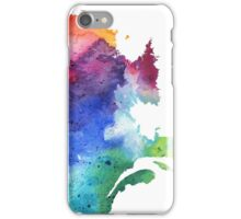 Watercolor Map of Quebec, Canada in Rainbow Colors - Giclee Print of My Own Watercolor Painting iPhone Case/Skin