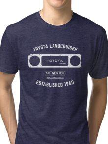 Toyota 40 Series Diesel Landcruiser Square Bezel Est. 1960 Tri-blend T-Shirt