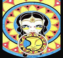 Sun Mandala Goddess by GotLux