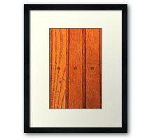 Wood Floor Again Framed Print