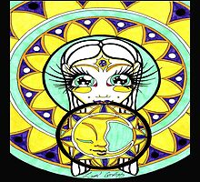 Moon Mandala Goddess by GotLux