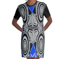 Hypnotize Blue outfit Graphic T-Shirt Dress