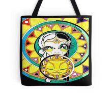 Eclipse Mandala Goddess Tote Bag