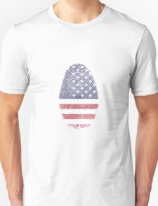 American Flag Fingerprint Unisex T-Shirt