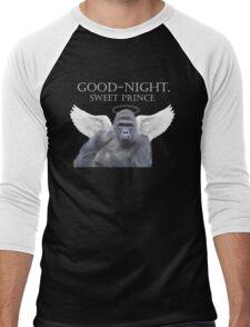 Good-Night, Sweet Harambe Men's Baseball ¾ T-Shirt