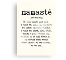 Namaste. Metal Print