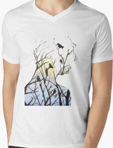 Treeman Mens V-Neck T-Shirt