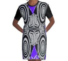 Hypnotize Purple outfit Graphic T-Shirt Dress