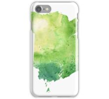 Watercolor Map of New Brunswick, Canada in Green - Giclee Print of My Own Watercolor Painting iPhone Case/Skin
