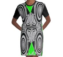 Hypnotize Green outfit Graphic T-Shirt Dress