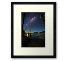 The Milky Way over the Scenic Rim Framed Print