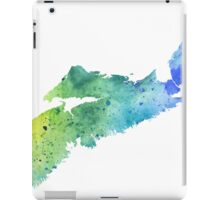 Watercolor Map of Nova Scotia, Canada in Blue and Green - Giclee Print of My Own Watercolor Painting iPad Case/Skin