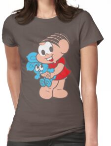 Monica And Her Rabbit Doll Womens Fitted T-Shirt