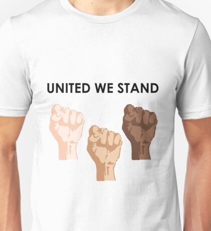 UNITED WE STAND (Black Font) Unisex T-Shirt