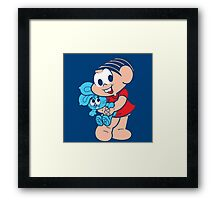 Monica And Her Rabbit Doll Framed Print