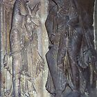On tympanum Narthex Vezelay France 198405050058 by Fred Mitchell