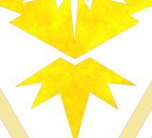 Pokemon GO Team Instinct Plasma Logo Sticker