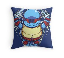 Ninja Squirtle - Pillow and Tote Throw Pillow
