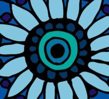 Blue Flower Doodle Sticker