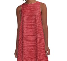 Cayenne Wood Grain Texture A-Line Dress