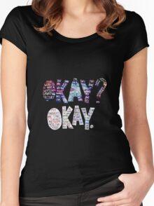 Okay Okay Nebula  Women's Fitted Scoop T-Shirt