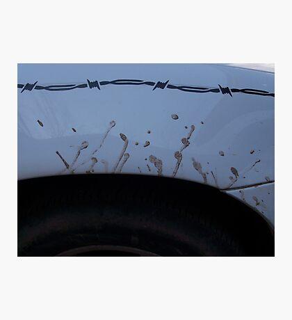 wheel splatter Photographic Print