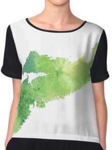 Watercolor Map of Nova Scotia, Canada in Green - Giclee Print My Own Watercolor Painting Chiffon Top