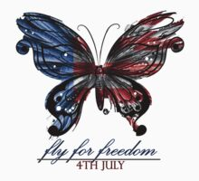 fly for freedom,4th july Kids Tee