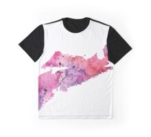 Watercolor Map of Nova Scotia, Canada in Pink and Purple  Graphic T-Shirt