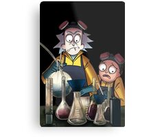 Breaking Bad Rick and Morty Metal Print