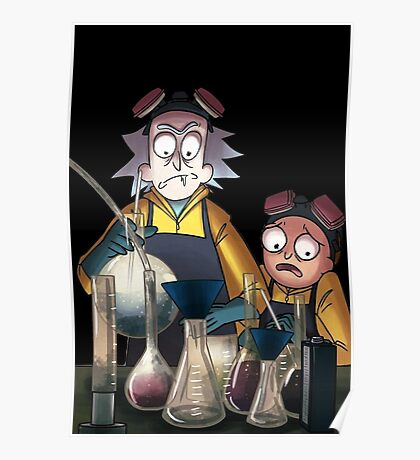 Breaking Bad Rick and Morty Poster