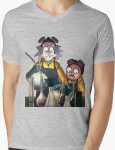 Breaking Bad Rick and Morty Mens V-Neck T-Shirt