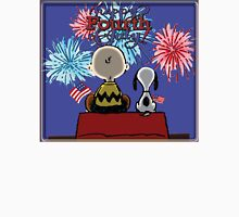 Snoopy And Charlie Happy Fourth Of July Unisex T-Shirt